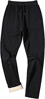 Men's Winter Fleece Pants Sherpa Lined Sweatpants Active Running Jogger Pants
