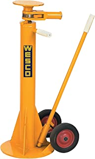 Wesco Industrial Products 272955 Standard Steel Trailer Stabilizing Jack, 100000 Pound Static Capacity, 13-3/4