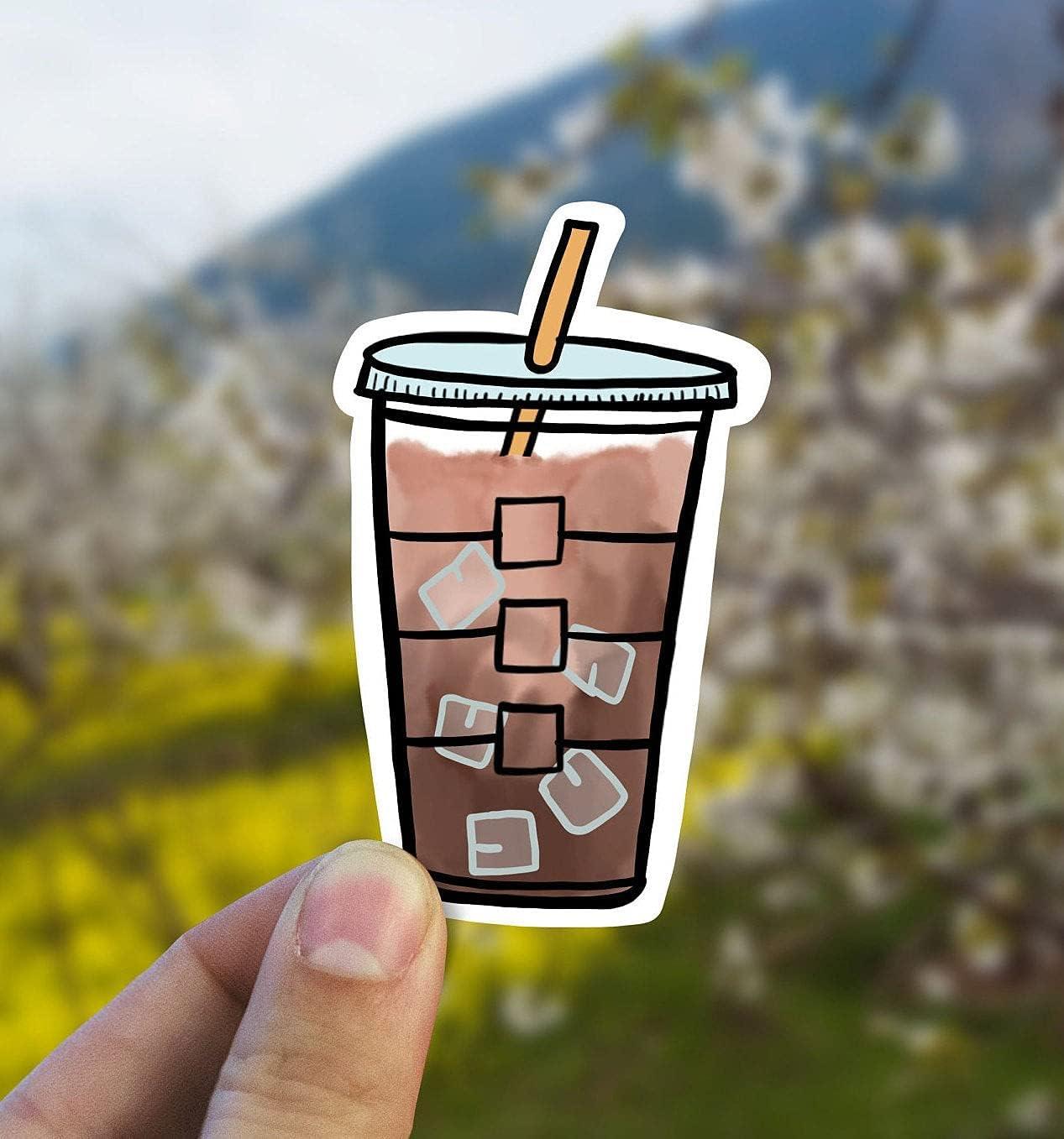 Iced Coffee Vinyl Product ice Sticker discount