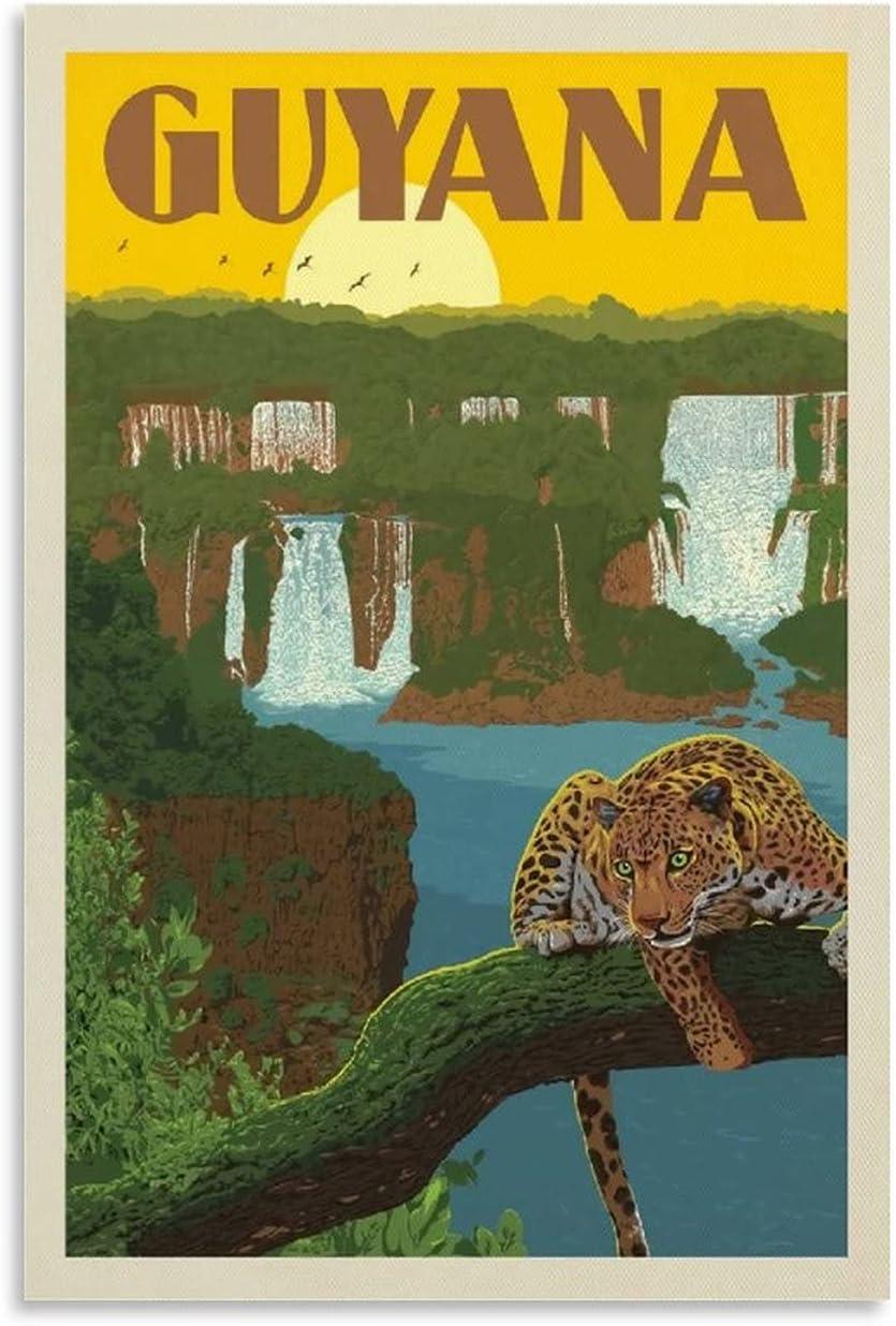 Vintage Posters Ranking TOP15 Guyana Animal Decorative Pa Max 67% OFF Poster Jaguar
