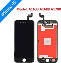 """iPhone 6s Screen Replacement Lansupp 3D Touch Screen Glass Digitizer Frame Assembly with Tempered Glass Screen Protector + Repair Tools Black 4.7"""""""