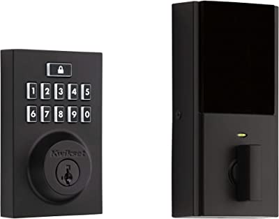 Kwikset CP913CNT-514S Kwikset 913CNT-S SmartCode Contemporary Single Cylinder Touchpad Electronic Deadbolt