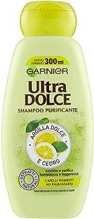Garnier Shampoo Purificante Argilla Dolce e Cedro Ultra Dolce, 300 ml