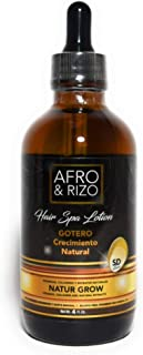 Afro & Rizo Gotero Crecimiento - Natural Hair Growth Dropper - Hair Spa Lotion with Vitamins, Collagen, and Natural Extrac...
