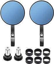 kemimoto Motorcycle Handlebar Bar End Mirrors Rearview Mirror Universal 7/8