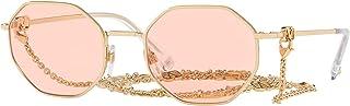 فالنتينو V Logo VA 2040 ذهبي/وردي 52/21/140 نظارة شمسية للنساء