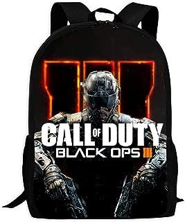 Black Call Duty-ops-3 Unisex Backpack Shoulder Bags Knapsack Boys Girls Laptop Outdoor Men Women