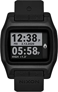 NIXON High Tide A1308-100m Water Resistant Men's Digital Surf Watch (44 mm Watch Face, 23 mm Pu/Rubber/Silicone Band) - Al...