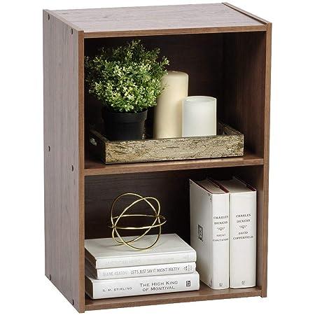 Marque Amazon - Movian Meuble de rangement cube 2 niches/Etagère 2 casiers, MDF, Chêne Brun, 41,5 x 29 x 59,5 cm
