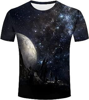 Maoda Mens 3D Tshirts Printed Night Moon Cool Graphics Tees Shirts