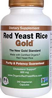Sponsored Ad - Red Yeast Rice Gold, 600 mg of Organic Red Yeast Rice - IP6 International - 240 Veg Caps