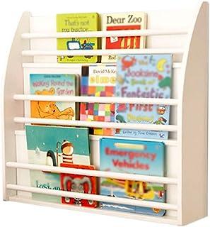 Estantería de madera de múltiples funciones de los estantes de libros estante de libros de caja de libro de niños del piso Biblioteca Biblioteca colgar de la pared del estante Libro de imágenes