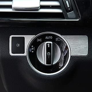 Aluminium Alloy Headlight Switch Cover Trim Sticker Car Styling Accessories for Mercedes Benz A W176 B W246 C W204 E-class W212 GLA GLK X204 GL ML