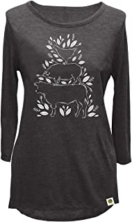John Deere Womens Farm Stack (Leaves) Ls Tee