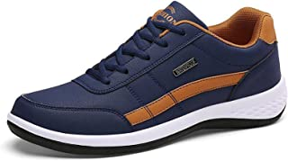 ML S HJDY Herren-Sneaker, Komfortschuhe, tägliche Outdoor-Wanderschuhe, PU, Schwarz/Rot, Weiß, Dunkelblau, Herbst
