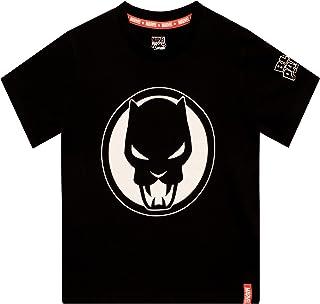 Marvel Black Panther Camiseta de Manga Corta para niños