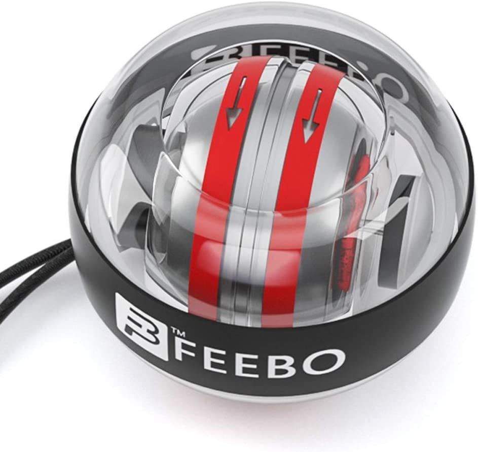feebo Our shop OFFers the best service Auto-Start Wrist Power Trainer Ball Max 84% OFF Gyroscopic Wris