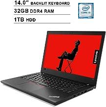 2019 Newest Lenovo ThinkPad T480 14 Inch FHD Laptop (8th Gen Inter Quad Core i5-8250U up to 3.4GHz, 32GB DDR4 RAM, 1TB HDD, Intel UHD Graphics 620, Backlit Keyboard, Windows 10 Pro)