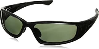 Crossfire Eyewear 24426 MP7 Full Frame Polarized Safety Glasses with Blue Green Polarized Lens and Black Frame