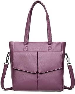 Bags Women Top Handle Satchel Handbag Tote Shoulder Bag Purse Handbags Shoulder Bag (Color : Purple)