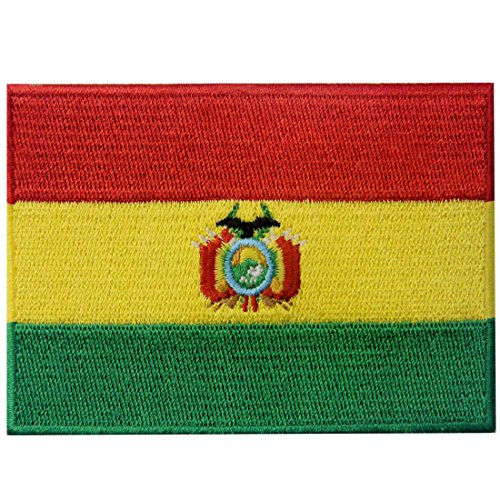 Bolivien Flagge Bestickter Bolivianisch Aufnäher zum Aufbügeln/Annähen