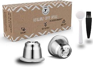 Wiederverwendbare Kaffeekapseln für Nespresso: Nachhaltig und wiederbefüllbar im Doppelpack - Unsere wiederbefüllbare Kaffeekapsel lässt dich die Welt mit jedem Schluck ein Stück grüner machen