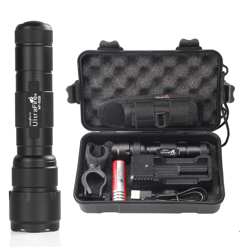 UltraFire WF 502B Tactical Flashlight Rechargeable