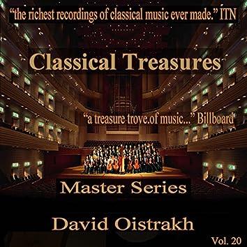Classical Treasures Master Series - David Oistrakh, Vol. 20