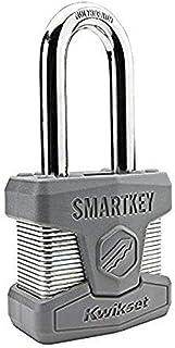 Kwikset 026SMTLNG SHKL PDL Stanley SmartKey Padlock Long Shackle, 50mm, Satin Chrome
