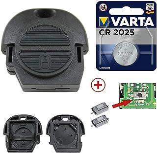 Auto Schlüssel Hülle Schwarz für Nissan Note Almera II X-Trail Qashqai Primera
