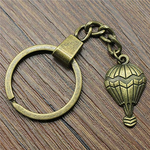 N/ A ZHTTCD 29x17mm Hot Air Balloon Sleutelhanger Vintage Mode Metalen Sleutelhanger Party Gift