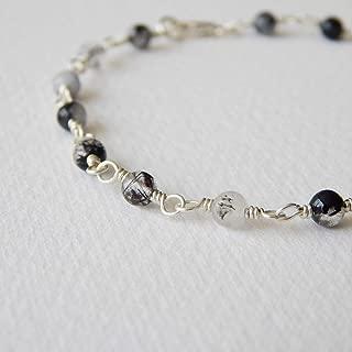 Tourmalinated Quartz Bracelet in Sterling Silver