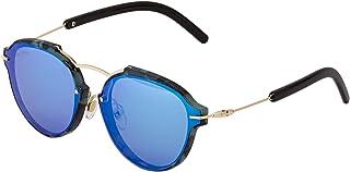 Sky Vision Panto Sunglasses for Women, Blue Lens, SV53525