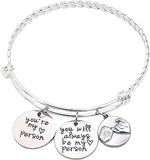 Best Friend Bracelet - You're My Person Bracelet - Sister Gift - Pinky Promise Charm Bracelet - Best Friend Birthday Gift
