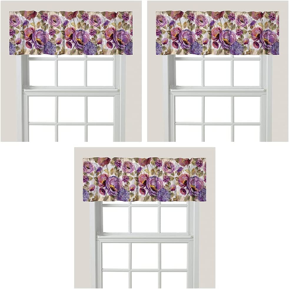 Laural Home Purple Floral 25% OFF Garden Window Milwaukee Mall Valance 3