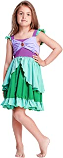 Little Girl Mermaid Princess Dresses Ariel Costume for Grils Birthday Party Halloween Cosplay Costumes