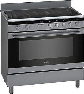 Seimens 90x60 CM 5 Ceramic Hobs Stainless Steel Cooker Oven with Large capacity oven 112 Liters HK9K9V850M