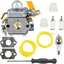 Buckbock 308054034 308054014 Carburetor with Tune Up Kit for Ryobi RY09053 RY09055 RY09056 RY08554 RY09907 RY28000 RY28005 RY28025 RY28065 Brushcutter Leaf Blower Vacuum