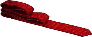 Gravata vermelha com bolas brancas - Super Slim