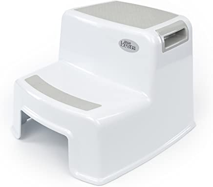 Dual Height Step Stool for Kids   Toddler's Stool for Potty Training and Use in the Bathroom or Kitchen   Versatile Two-Step Design for Growing Children   Soft-Grip Steps Provide Comfort and Safety