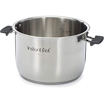 Instant Pot Stainless Steel Cooking Handles-6 Quart Duo Evo Series Inner Pot