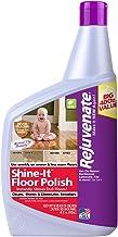 Rejuvenate Shine-It Floor Polish 40oz Renew and Protect Newer Hardwood Laminate Stone Vinyl Ceramic Tile Terrazzo Linoleum...