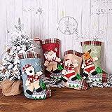 L.J.JZDY Decoraciones de Navidad Calcetines de arpillera Viejo Hombre * 1 + Calcetines del muñeco de Nieve * 1 + Medias Deer * 1 + Calcetines Osos * 1 Calcetines Bolsas Decoraciones de los re