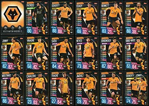 MATCH ATTAX 19/20 WOLVERHAMPTON WANDERERS/WOLVES FULL 18 CARD TEAM SET - EUROPA LEAGUE