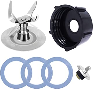 KONIGEEHRE Replacement Parts Compatible with Oster Blender Ice Blades with Bottom Cap Rubber Sealing O-Ring Gaskets Coupling Stud Slinger Pin Kit for Oster & Osterizer Blender Accessories
