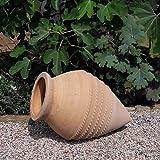 Kreta-Keramik Vitex2 - Fioriera in terracotta fatta a mano, resistente al gelo, 60 cm