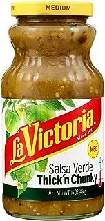 La Victoria Thick 'n Chunky Salsa Verde Medium, 16 Ounce
