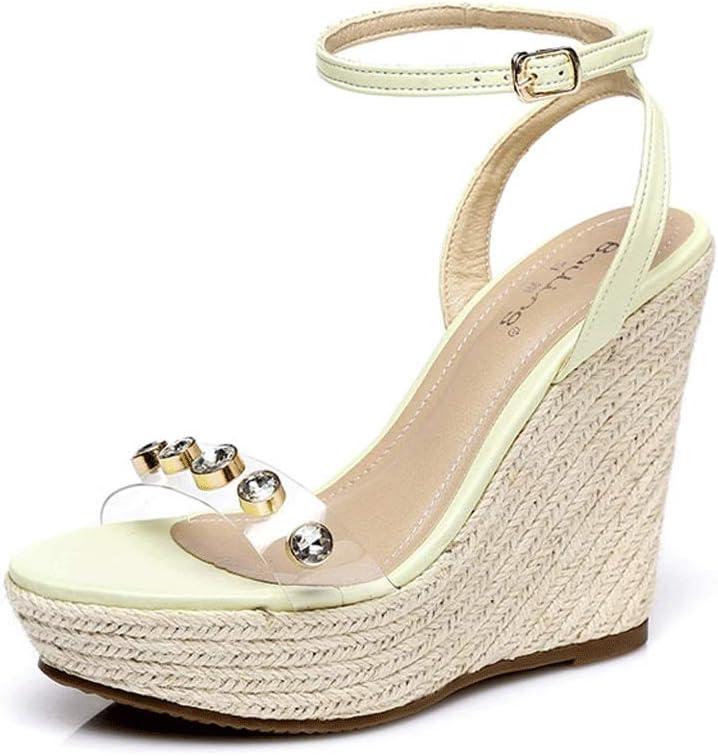 Ranking TOP19 Wedge Sandal Women's Retro Open Washington Mall Toe Bohemia Sex Weave High Heels