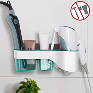 Best wall mount flat iron and hair dryer holder Reviews