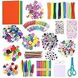 GOLDGE 700 Pezzi Kit per Lavoretti Creativi, Set Bricolage, Craft Kit per Hobby Creativi p...